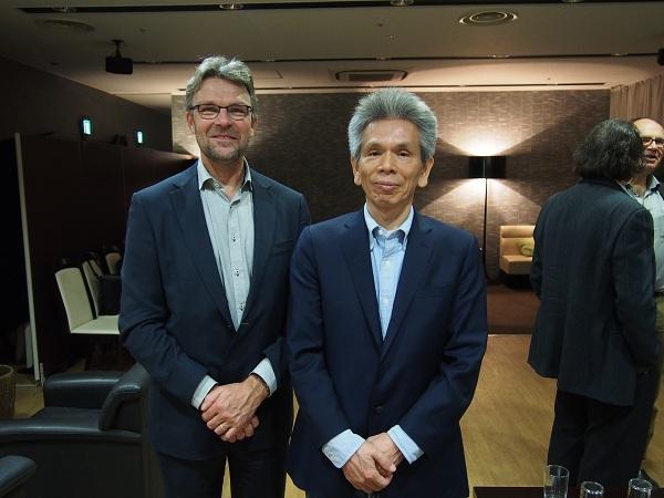 Meijdam教授と焼田研究科長